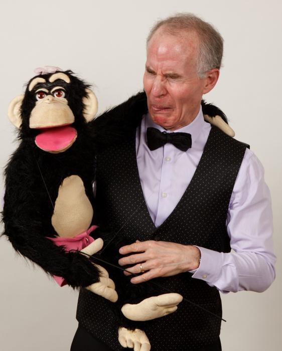 Professional ventriloquist Mark Hellerstein